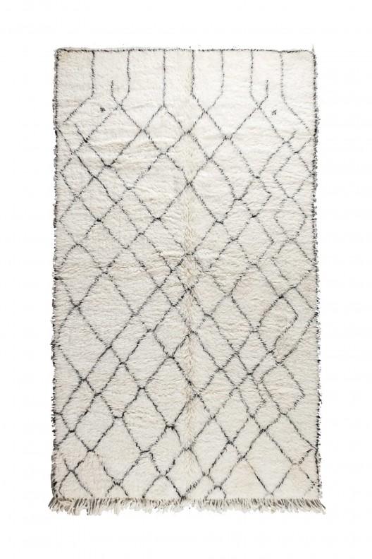 Tappeto Berbero Beni Ourain - 300X185 cm - 118.11X72.8345 in
