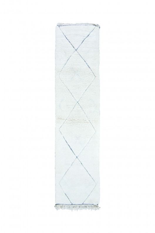 Tappeto Berbero Beni Ourain - 320X90 cm - 126X35.4 in