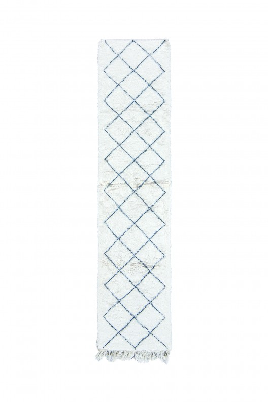 Tappeto Berbero Beni Ourain - 290X75 cm - 114.2X29.5 in