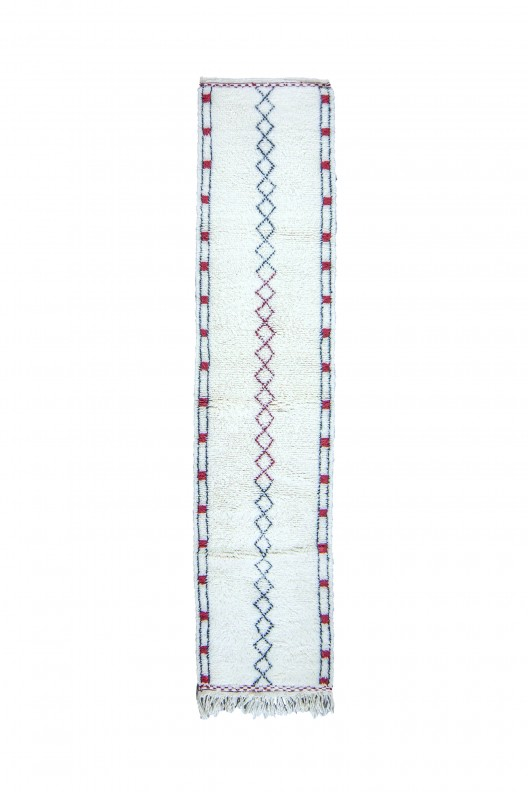 Tappeto Berbero Beni Ourain - 295X80 cm - 116.1X31.5 in