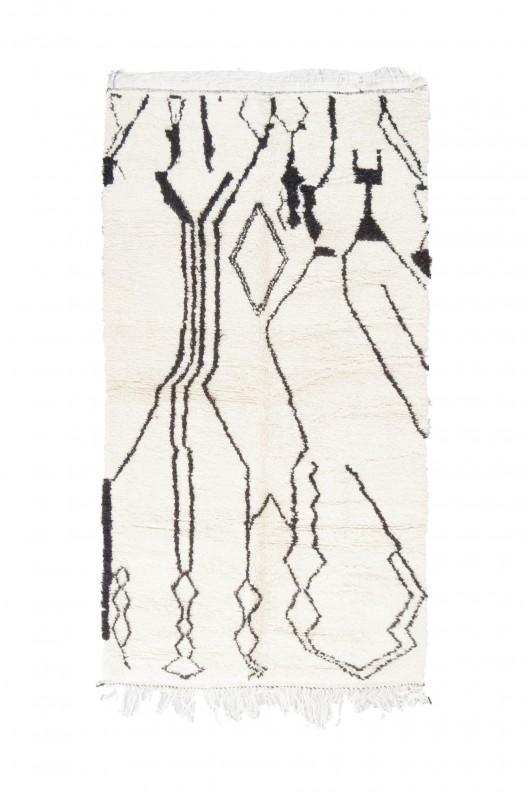 Tappeto Berbero Beniourain - 260X145 cm - 102.4x57.1 in