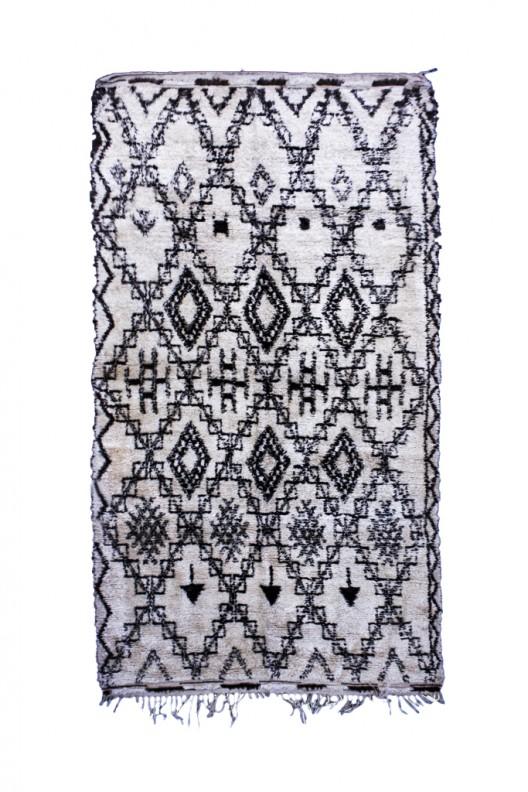 Tappeto Berbero Beni Ourain - 340X190cm - 133.9x74.8in