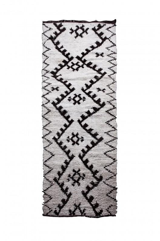 Tappeto Berbero Beni Ourain - 317X110 cm - 124.8X43.3 in