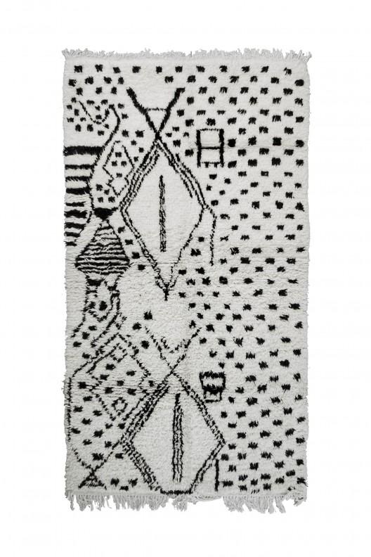 Tappeto Berbero Beni Ourain - 260x145 cm - 102.362X57.0865 in